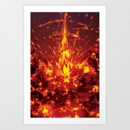 Zero Blast BOTTOM Art Print