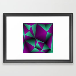 Purple and turquoise Framed Art Print