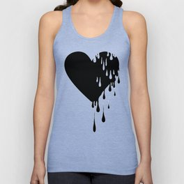 Bleeding Black Heart Unisex Tank Top