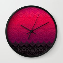 ELENA PATTERN - FLAMENCO VERSION Wall Clock