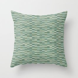 Vintage Lines Forest Green Throw Pillow