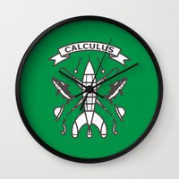 tintin Wall Clocks featuring Seal Of Calculus by M. Gulin