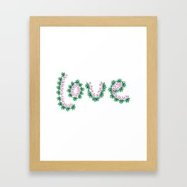 Cyclamen love Framed Art Print