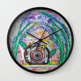Live in the moment Wall Clock