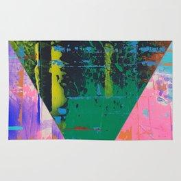 Color Chrome - triangle graphic Rug