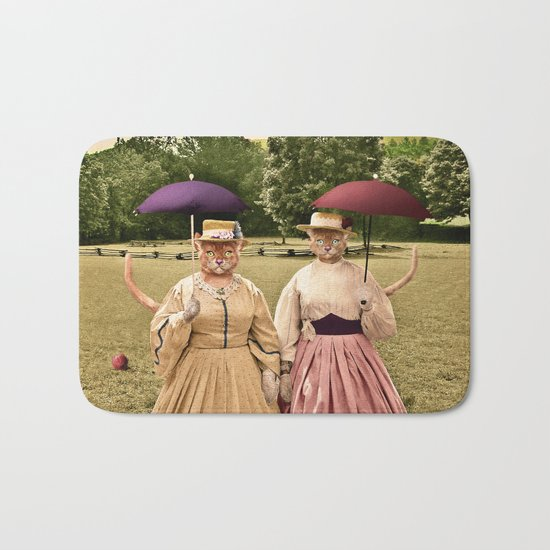 Two Pretty Kitties: Out for a Stroll Bath Mat