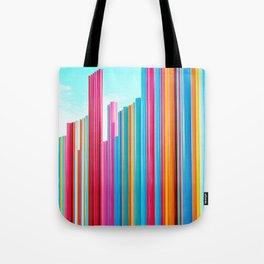 Colorful Rainbow Pipes Tote Bag