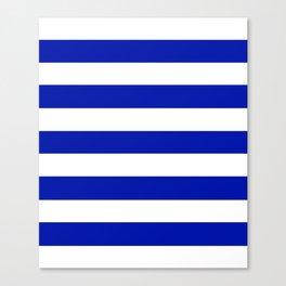 Zaffre - solid color - white stripes pattern Canvas Print