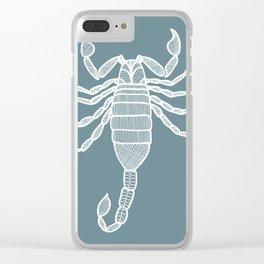 Scorpion Illustration Clear iPhone Case