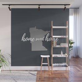 Minnesota Home Sweet Home Grey Wall Mural