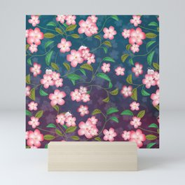 Cherry Blossoms and Leaves Mini Art Print