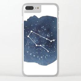 gemini constellation zodiac Clear iPhone Case
