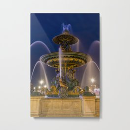 Fountain place de la Concorde Paris Metal Print