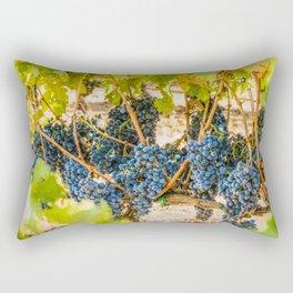 Ripe Grapes on Vine Rectangular Pillow