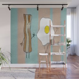 Bacon & Egg Togetherness Wall Mural
