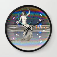 bath Wall Clocks featuring Bath Time by mentalembellisher