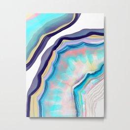 Rainbow agate Metal Print