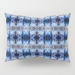 snowflake in blue 8 pattern Pillow Sham