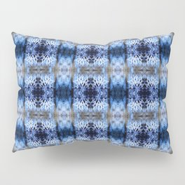 snowflake in blue 8 pattern Pillow Sham