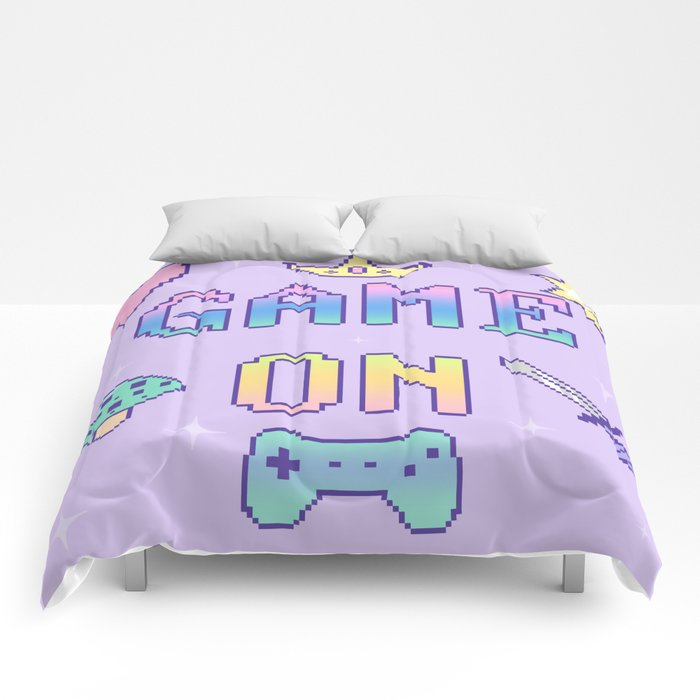 Game On (pastel) Comforters