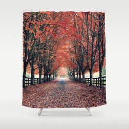 Welcome Home to Fall Shower Curtain
