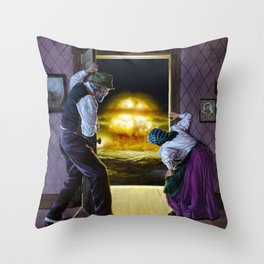 There Goes the Neighborhood Throw Pillow