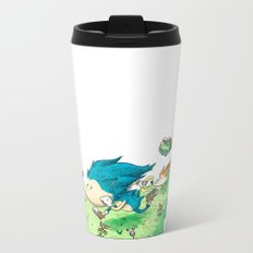 Starring Sonic and Miles 'Tails' Prower (Alt.) Metal Travel Mug