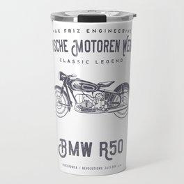 Vintage German Motorcycle T Shirt, 1958 Retro Bikers Model Travel Mug