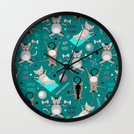 Fitness for cats Wall Clock
