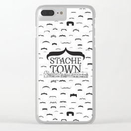 Stache Town Clear iPhone Case