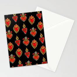 Sacred hearts pattern Stationery Cards