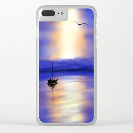 Digital Sunset Clear iPhone Case