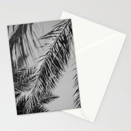 Fronds against the sky black and white Stationery Cards