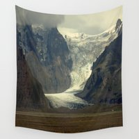 iceland Wall Tapestries featuring Iceland Glacier  by Factory23