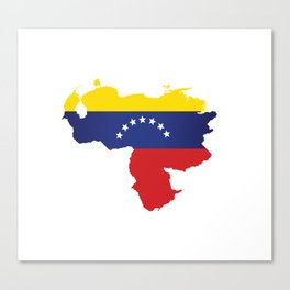 Venezuela - venezuelan heart - flag design Canvas Print