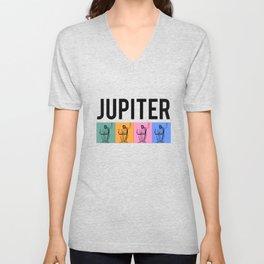 Jupiter, Roman Mythology Unisex V-Neck