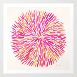 Watercolor Burst – Pink Ombré Art Print