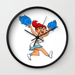Pretty redhead Cheerleader. Wall Clock