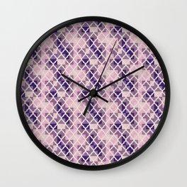 Pink & Purple Quatrfoil Wall Clock