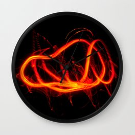 Tongues Of Fire Wall Clock