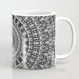 Grey Lace Ornament Mandala Coffee Mug