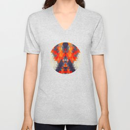 Abstract Triangle Mountain Unisex V-Neck