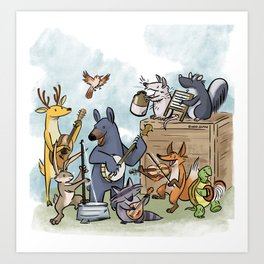 Woodland Jamboree Art Print