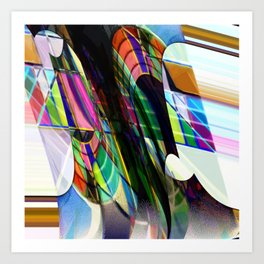 Color on a train Art Print