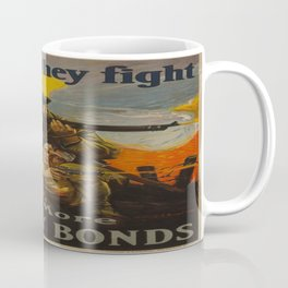 Vintage poster - Lend as They Fight Coffee Mug