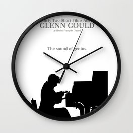 Glenn Gould, Thirty two short films about Glenn Gould,  François Girard, music poster, piano design Wall Clock