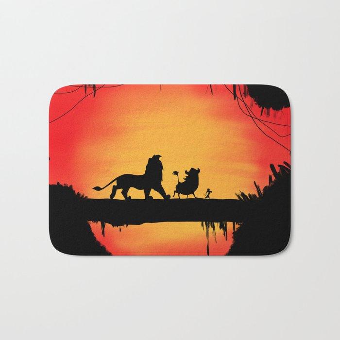 Lion King Sunset Bath Mat By Chelsealea