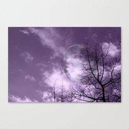 Purple Night  - JUSTART © Canvas Print