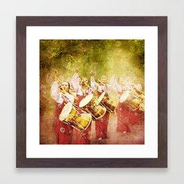korean drummers Framed Art Print