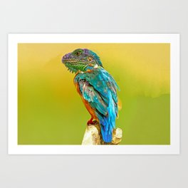 Lizard Perched  Art Print